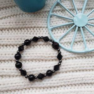 Handmade black bracelet